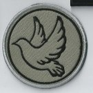Peace Dove 3 - embroidered patch, diameter 3,2 (INCHES)