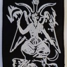 Baphomet - embroidered patch, 4 X 2,8 (INCHES)