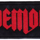 Demon - embroidered patch, 2 X 3,2 (INCHES)