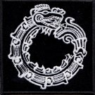 Mayan ouroborus - embroidered patch, 3,2 X 3,2 (INCHES)