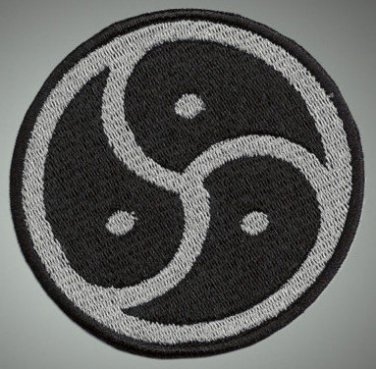 Bondage - embroidered patch, 3,2 X 3,2 (INCHES)