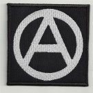 Anarchy symbol - embroidered patch, 3,2 X 3,2 (INCHES)