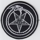 Ouroborus, pentagram - embroidered patch, 3,2 X 3,2 (INCHES)