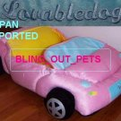 Pink Lovable Dog Cat Convertible Car Bed