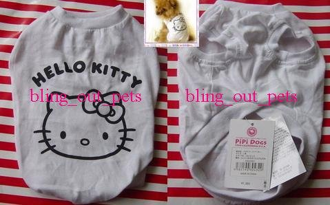 Hello Kitty Dog Cat Tee T Shirt Clothing