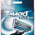 8 Original Gillette mach3 Turbo Cartridges or Blades