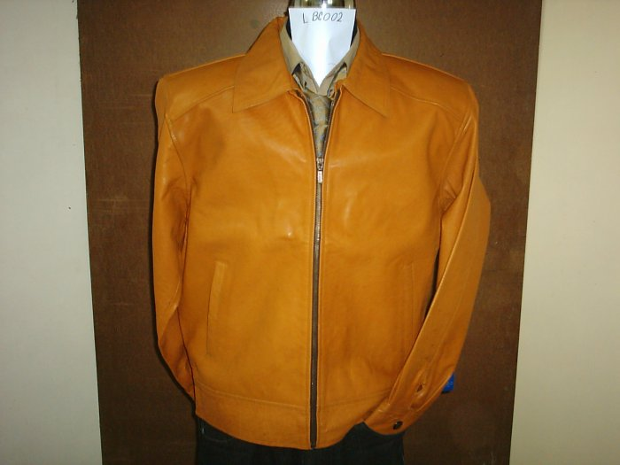 Leather Jacket (Sale 30%Discount on 2+)Motorbike $235, M,Cow, Brown, ItemNo:L2