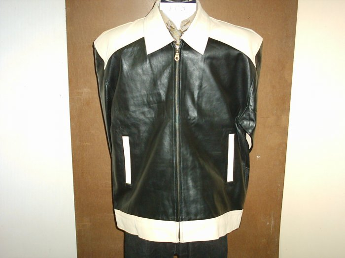 Leather Jacket (Sale 30%Discount on 2+) Motorbike $235 ,3XL,Sheep, ItemNo:LC3