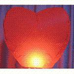 Wholesale lot of 12 (twelve) Heart Shaped Sky Lanterns