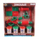 16 Piece Adventure Planet Create a Dough Dinosaur set