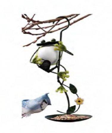 Wrought Iron Hanging Frog Bird Seed Feeder Metal