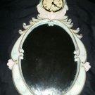 Antique look Mirror with clock
