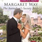 The Australian's Society Bride (Diamond Brides) (Larger Print)