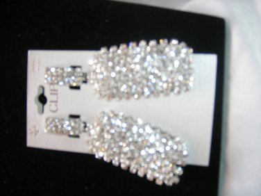 Rectangle Crystal Earrings