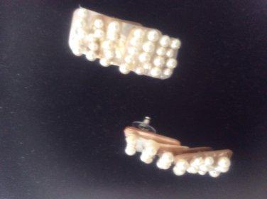 Pearl & layered shell earrings
