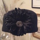 Black Pillbox Hat