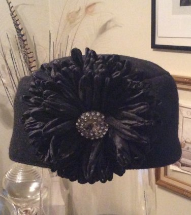 Black Pillbox Hat