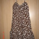 NWT Banana Republic Bow-Front Pattern Spaghetti Strap Dress XS 2