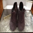 Colin Stuart Suede Leather Boots Heels Purple Size 6 NEW in Box