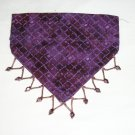 Dog Scarf - Small - Purple with Beads Around Scarf