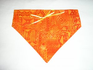 Dog Scarf - Medium - Orange & Yellow African Print