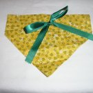Dog Scarf - Medium - Yellow & Green Swirls