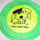 Flying Disc Dog Toy - Green & Yellow
