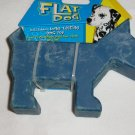 Dog Toy - Flat Dog - Blue