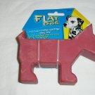 Dog Toy - Flat Dog - Red