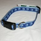 Dog Collar - Two Tone Paw Print - Blue