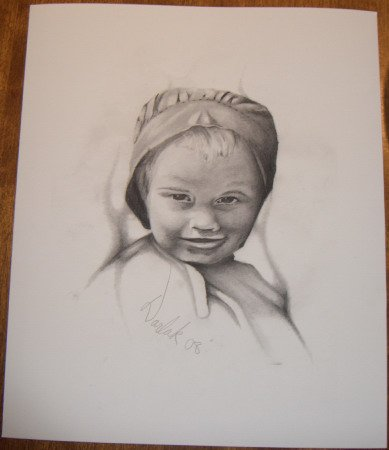 Amish Girl in Bonnet Numbered Print