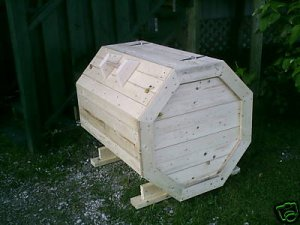 how to build a wooden garbage bin