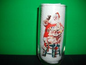 Vintage Santa Coca Cola 12oz. Glass