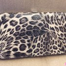 Black Animal Print Flat Clutch Wallet