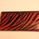 Red Accordion Style Zebra Print Clutch Wallet (505ts)