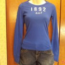 Abercrombie and Fitch Kids Brand Long Sleeve  T-Shirt - Blue - Size M (533ts)