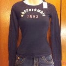Abercrombie and Fitch Kids Brand Long Sleeve  T-Shirt - Navy Blue - Size S (534ts)