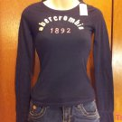 Abercrombie and Fitch Kids Brand Long Sleeve  T-Shirt - Navy Blue - Size M (535ts)