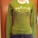Abercrombie and Fitch Kids Brand Long Sleeve  T-Shirt - Green - Size M (536ts)