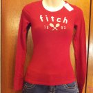 Abercrombie and Fitch Kids Brand Long Sleeve  T-Shirt - Red - Size S (537ts)