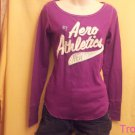 Aeropostale - Aero - Purple Long Sleeved T-shirt - Size Extra Small - New - (626ts)