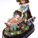 Turtle King Corp. Giouanni Collectable Figurine Girl with Baby Carriage 7in x7in