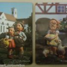 Ricolor M.J. Hummel Tile Picture 10in x 6in West Germany Set of 2