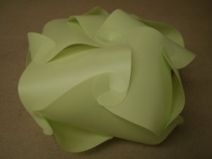 Green Plastic Geometric Shape