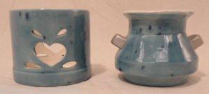 Ceramic Tealight Candle Holder and Vase Set