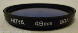 Camera Lens Hoya 49mm 80A