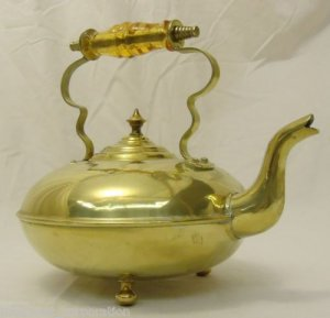 Aladdin Lamp Tea Pot Brass Plated Metal Alloy 75 years Old