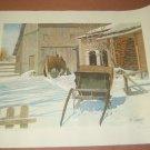 "Winter Scene Print B. Liaskas 19/25 25""x 19"""