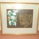 "Oriental Shuzu Ikeda ""Boy & Flower"" 12/100 1965 22""x 19"