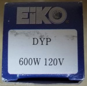Eiko 01820 DYP AV Photo Lamp 600W 120V